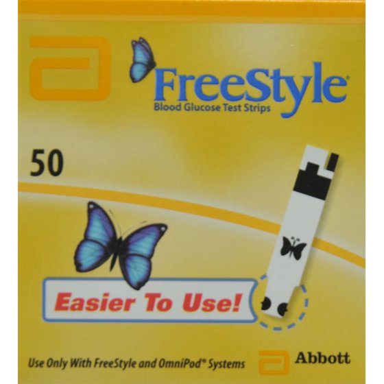 FreeStyle Blood Glucose Test Strips, 50 Ct