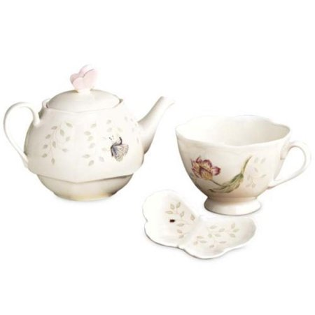 Lenox Butterfly Meadow Stack Teaset With Bag Holder