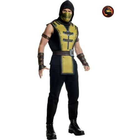 Adult Mortal Kombat Scorpion - Mortal Kombat Scorpion Costume For Kids