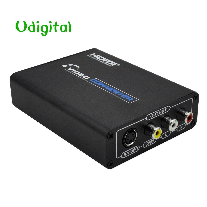 Udigital HDMI to Composite 3RCA AV S-Video R/L Audio Vdie...