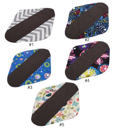 5Pack Cloth Menstrual Pads Reusable Sanitary Napkins - Perfect For Heavy Flow Or Overnight Avoid Leaks, 23 * (Reusable Cloth Menstrual Pads)