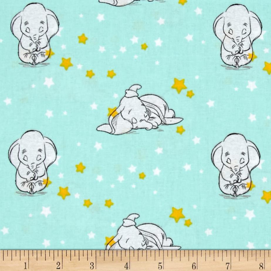 Disney Sweet Dreams Dumbo Starry Fabric, per Yard