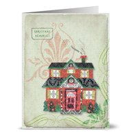 24 Holiday Cards - Christmas Memories - Blank Cards - Green Envelopes Included