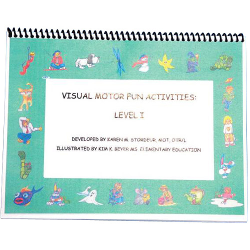 Abilitations Integrations Visual Motor Reusable Fun Books with Wipe Erase Pen, 18 Pages, 2-Pack