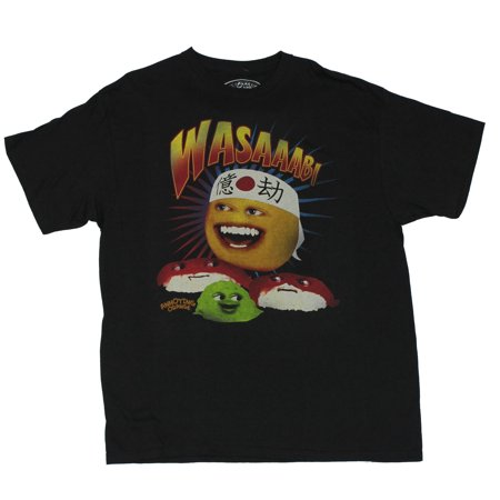 Annoying Orange (Hit Internet Meme) Mens T-Shirt  - Wasaabi! Karate Orange I