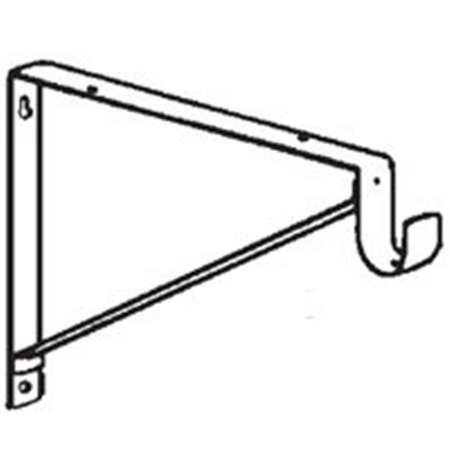 John Sterling RP-0045-WT Shelf and Rod (Ballet Bar Wall Bracket)