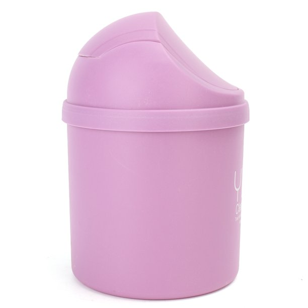Mini Trash Can Touch Top Waste Bin Cute Mini Small Waste Bin Desktop Garbage Basket Table Trash Can Roll Swing Lid Home Plastic Countertop W Swing Top Lid For Home Office