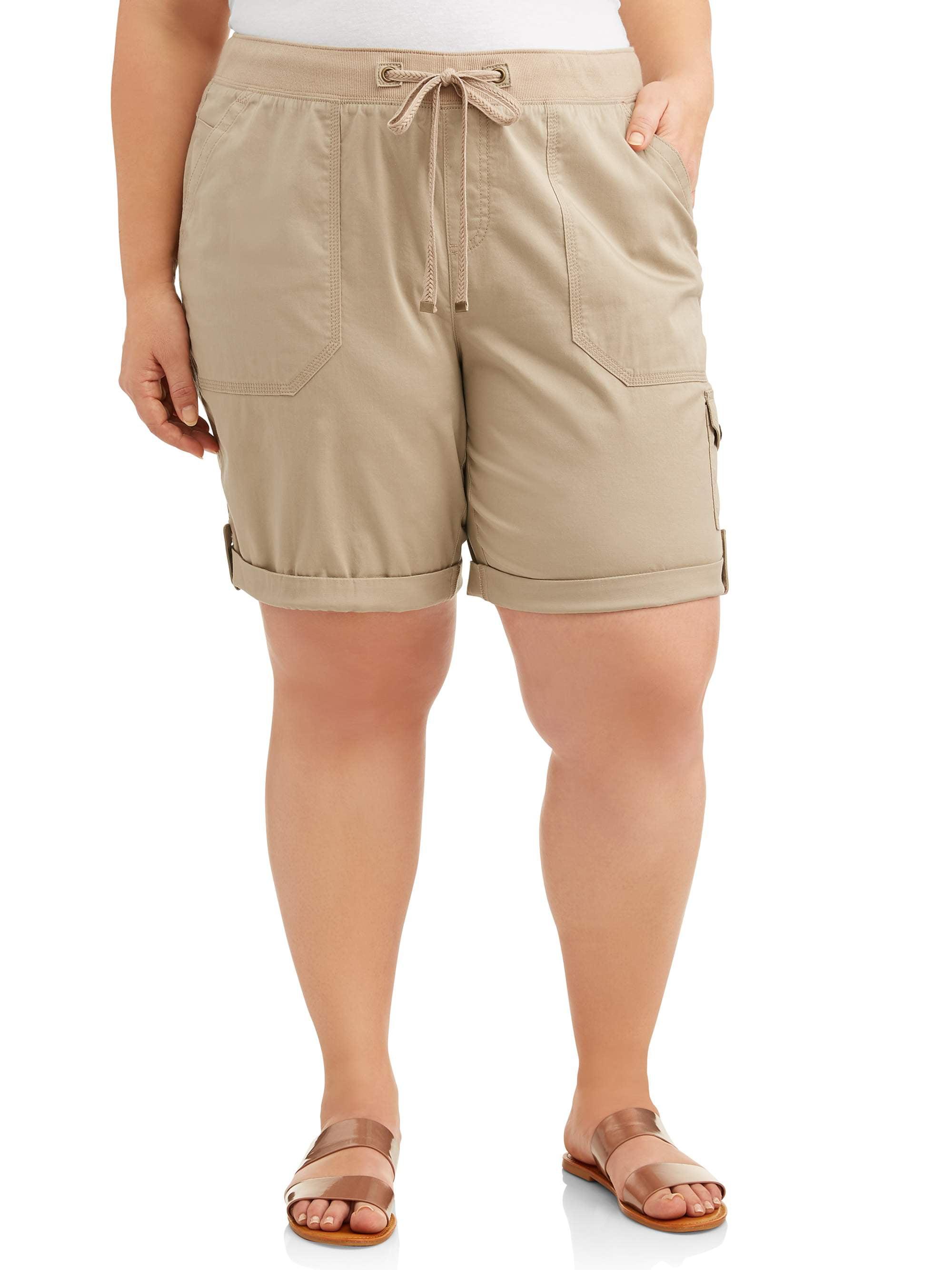 Women's Plus Size Cargo Shorts