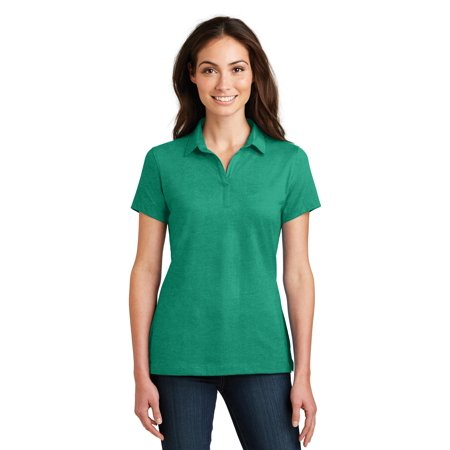 Port Authority® Ladies Meridian Cotton Blend Polo. L577 Verdant Green Xs - image 1 of 1