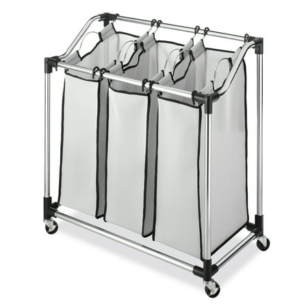 Whitmor Chrome Laundry Sorter with Foam Mesh Bags (Laundry Sorter With Mesh Bags)
