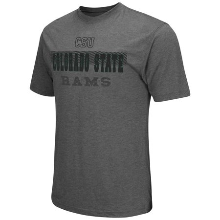 Mens NCAA Colorado State Rams Short Sleeve Tee Shirt (Heather Charcoal) Colorado State Rams Golf