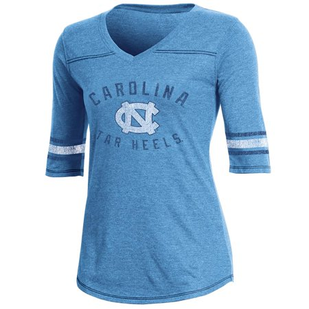 Women's Russell Carolina Blue North Carolina Tar Heels Fan Half-Sleeve V-Neck
