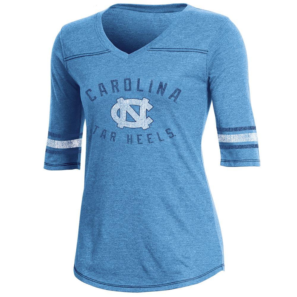 Women's Russell Carolina Blue North Carolina Tar Heels Fan Half-Sleeve V-Neck T-Shirt