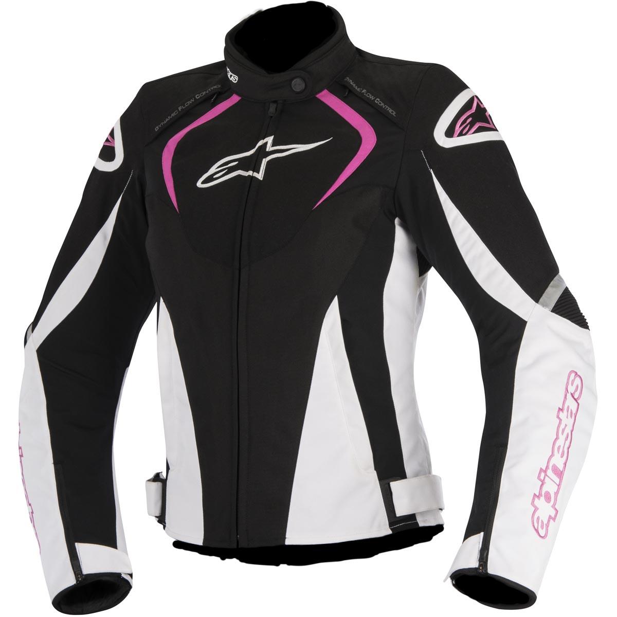 Alpinestars Stella T-Jaws Air Womens Motorcycle Jacket Black/White/Pink