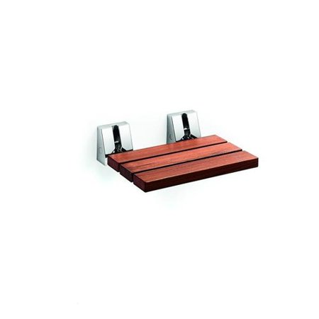 Lb Scagni Folding Shower Seat With Steel Bracket Wood Fold Down Spa Bench