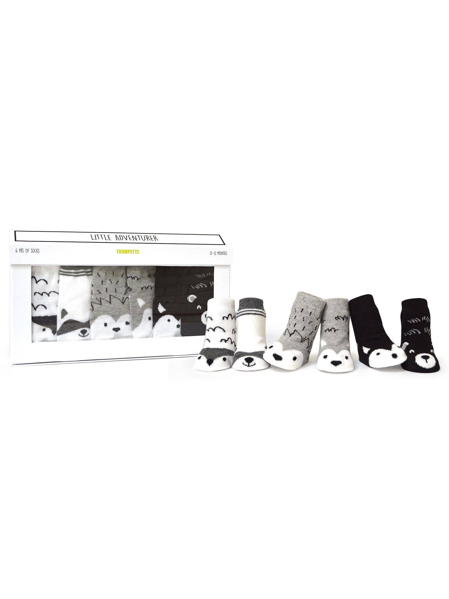 Baby Boys' Little Adventure Baby Socks 6-pack (0-12 mo.)