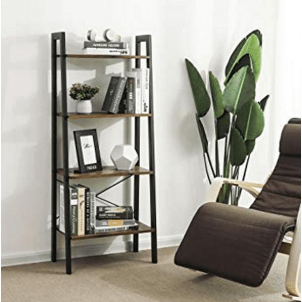 4 Tier Shelf Ladder Bookcase Shelves