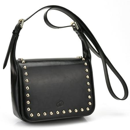 672dcb43bbf2 KroO - Women s Studded Leather Saddle Bag