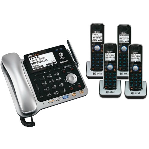 AT&T TL86109 + (3) TL86009 5 Handset Corded / Cordless 2 Line