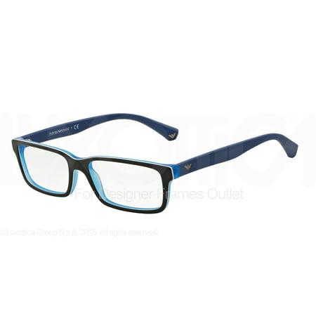 f8c1a30af3a9 EMPORIO ARMANI Eyeglasses EA 3061 5392 Black Matte Blue 53MM - Walmart.com