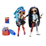 LOL Surprise OMG Remix Rocker Boi and Punk Grrrl 2 Pack - 2 Fashion Dolls with Music