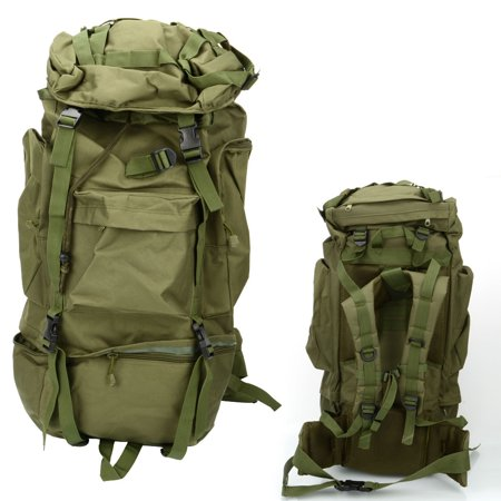 dc5556de6b97 Zimtown 80L Waterproof Camping Luggage Backpack Rucksack Bag, Daypack for  Outdoor Sports, Traveling, Hiking, Trekking, Climbing, Canva