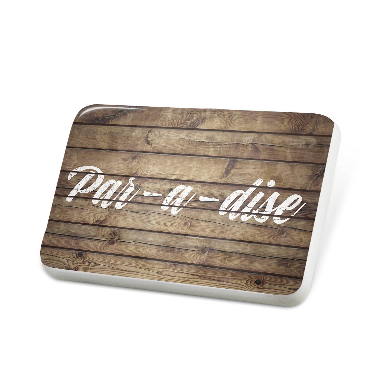 Porcelein Pin Painted Wood Par-a-dise Lapel Badge – NEONBLOND