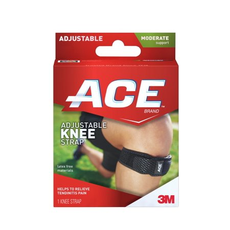 Ace Moderate Support Knee Strap  Black  1  Pack