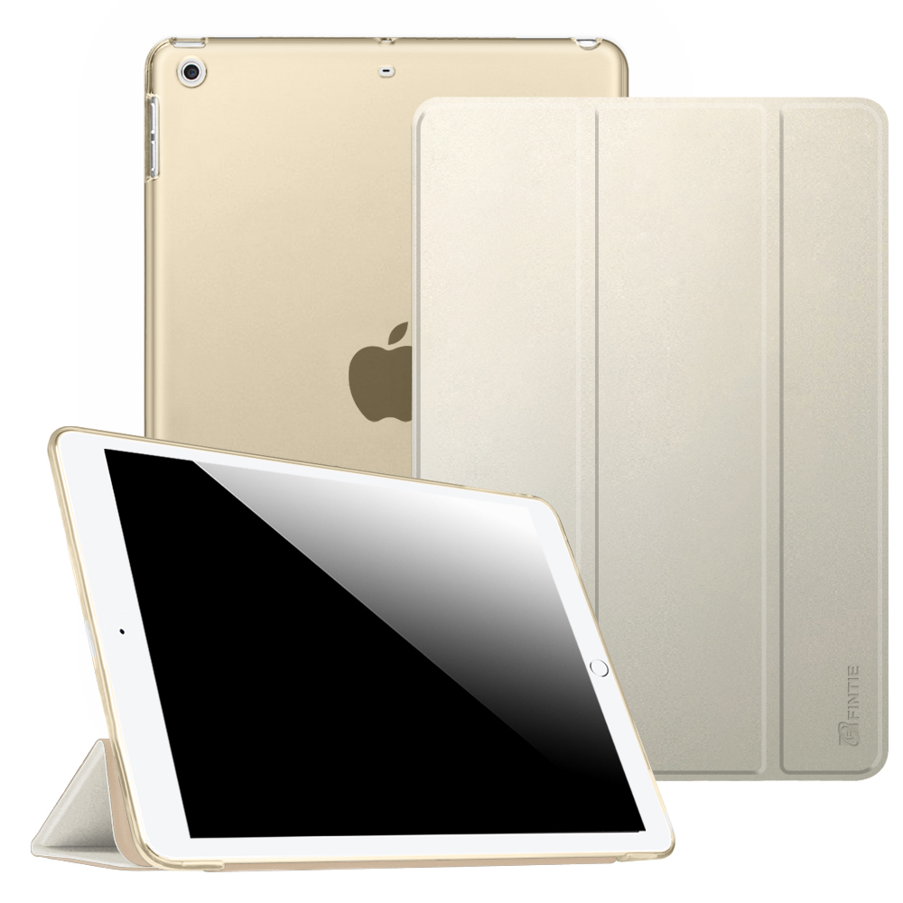 Fintie New iPad 9.7 Inch 2018 2017 Case - SlimShell Cover with Translucent Frosted Back Protector, Black