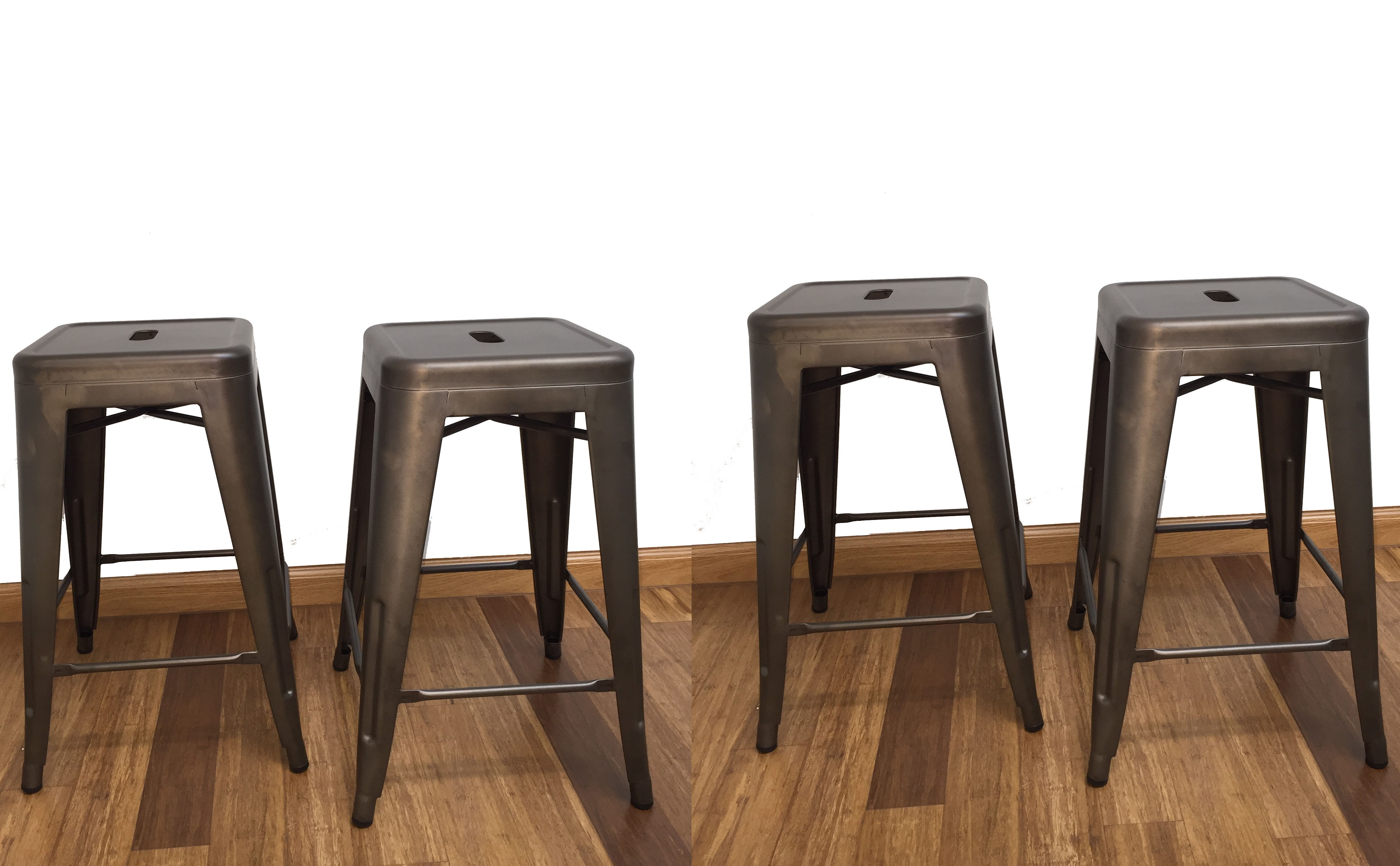 BTEXPERT® 24-inch Industrial stacking Metal Vintage Antique Copper Rustic Distressed Dining room Counter  sc 1 st  Walmart : modern rustic bar stools - islam-shia.org