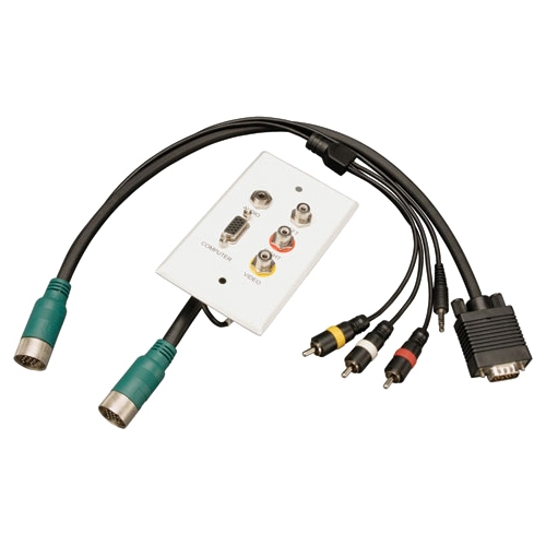 Tripp Lite EZA-VGACSAX-2 Audio/Video Cable Adapter - 2 Pack