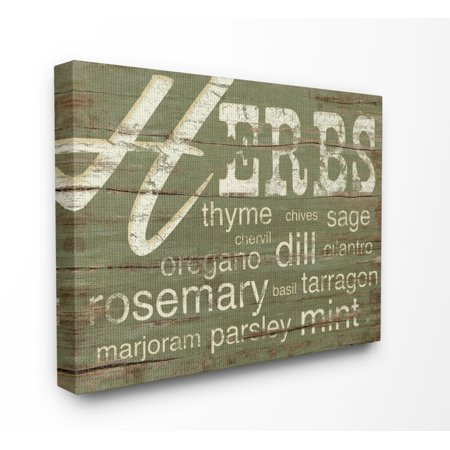 Act Green (The Stupell Home Decor Collection Herbs And Words Green Kitchen XXL Stretched Canvas Wall Art, 30 x 1.5 x)