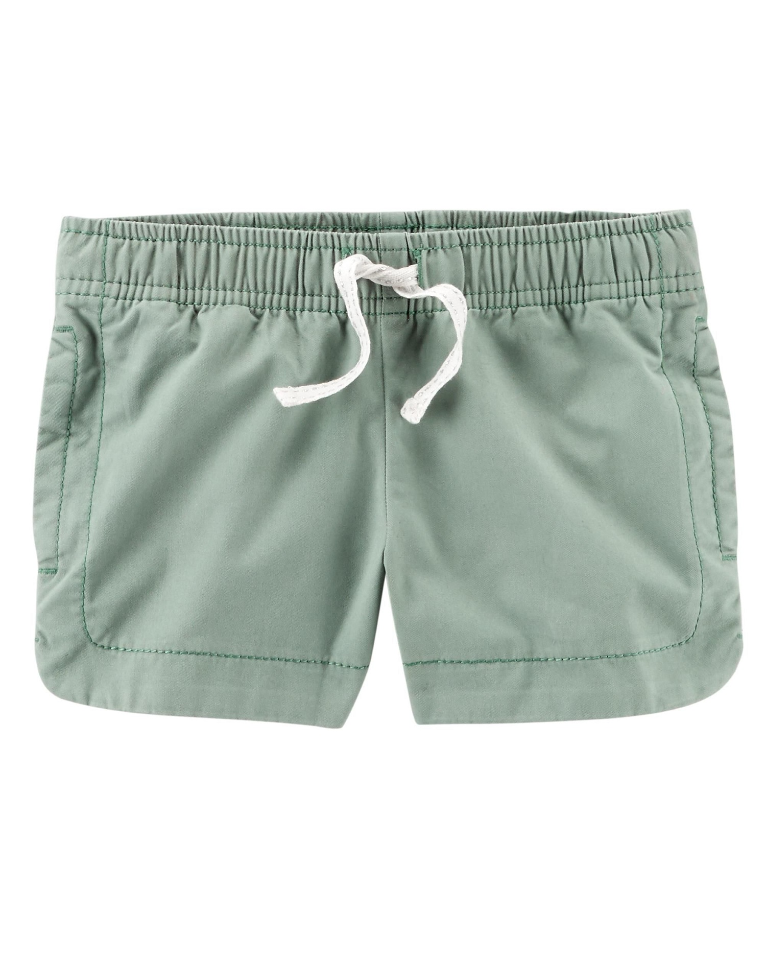 Carter's Baby Girls' Easy Pull-On Twill Shorts