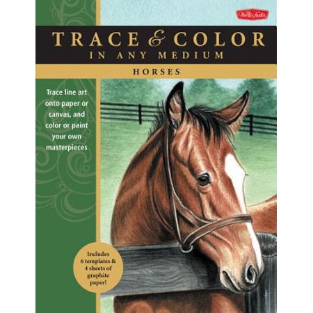 Horses : Trace Line Art Onto Paper or Canvas, and Color or Paint Your Own -