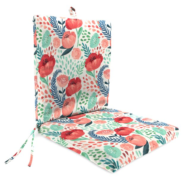 mainstays pink floral 1 piece cushion
