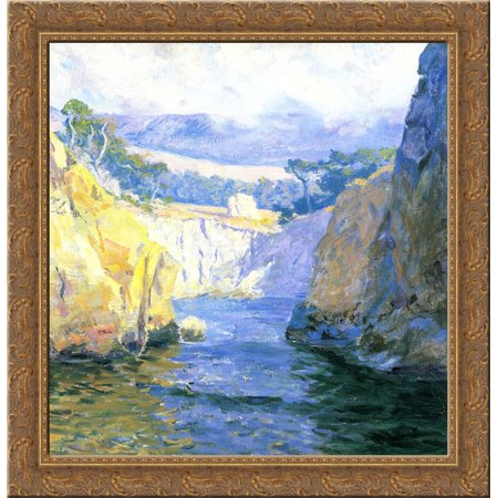 Vista From Point Lobos 20X20 Gold Ornate Wood Framed Canvas Art By Guy Rose