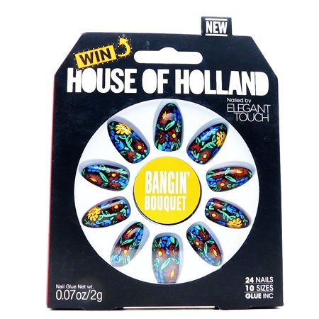 House of Holland Nailed by Elegant Touch Bangin' Bouquet Flora 'N' Fauna: 24 nails, nail glue .07 Oz., nail file (07 Bouquet)