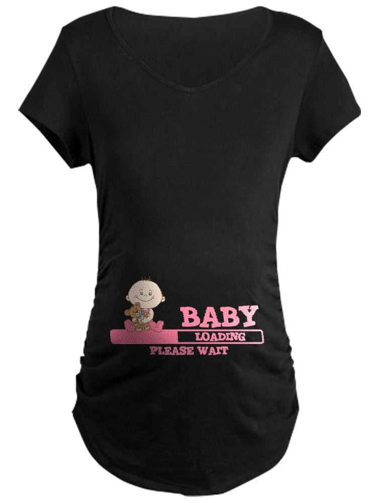CafePress - Baby Loading Maternity T Shirt - Maternity Dark T-Shirt