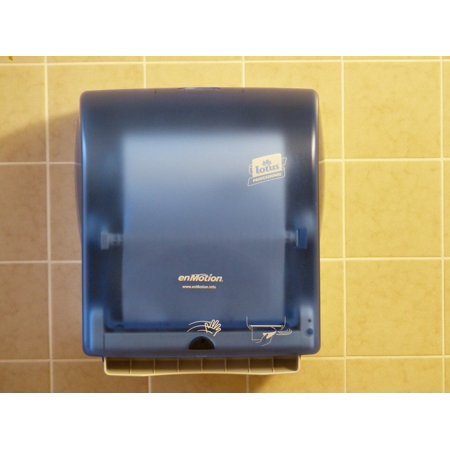 LAMINATED POSTER Paper Dispenser Hand Dryers Toilet Poster Print 24 x