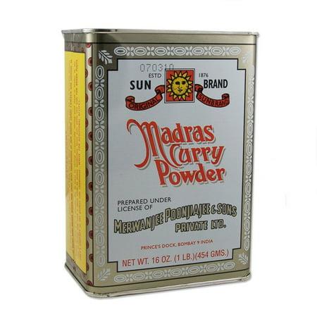 Sun Brand Madras Curry Powder, 1 LB