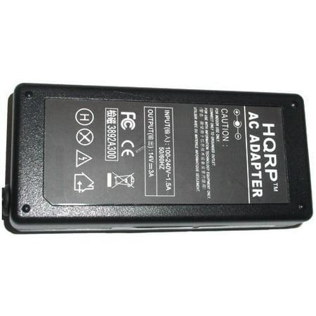 HQRP 14V AC Adapter for Samsung SyncMaster S24E510C S27D590 S27D590C S27D590CS S19B300N S19B300B TFT LCD Monitor Power Supply Cord Adaptor Sync-Master + Coaster - image 2 de 3