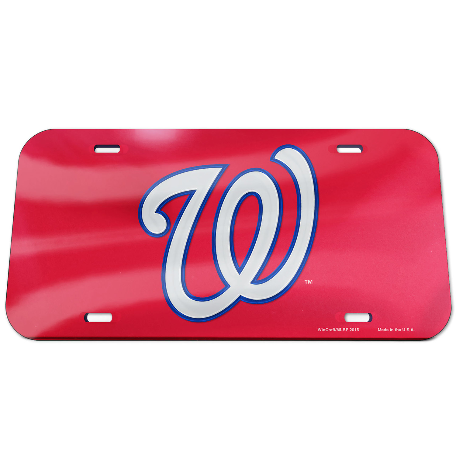 Washington Nationals WinCraft Logo Crystal Mirror License Plate - No Size