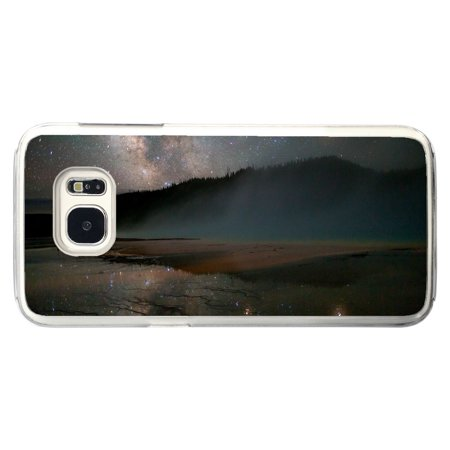 Night Time Milky Way Sky With Stars And Mountains In Distance Samsung Galaxy S7 Edge Phone Case