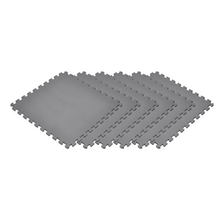 Norsk Gray 24 in. x 24 in. EVA Foam Non-Toxic Solid Color Interlocking Tiles, 60