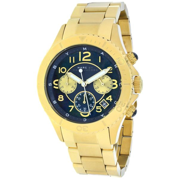 Marc Jacobs Chronograph Teal Dial Gold Ladies Watch MBM3252