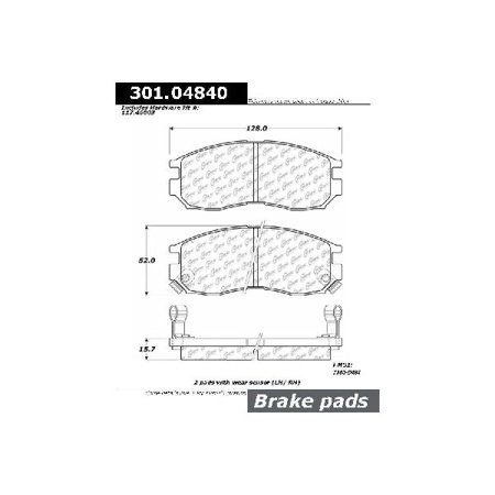 Go-Parts » 1990-1998 Eagle Talon Front Disc Brake Pad Set for Eagle Talon (Base / DL / ES / - Eagle Talon Brake Disc