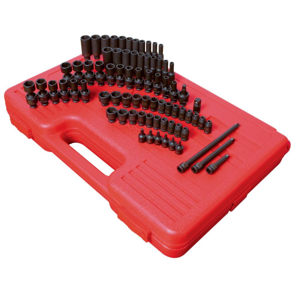 Sunex 1874 1/4 in. Drive 74 Piece SAE/Metric Master Impact Socket Set