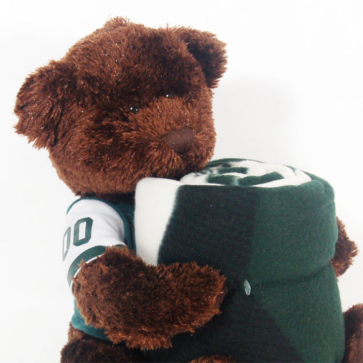 NFL New York Jets Teddy Bear Hugger Throw Blanket Set