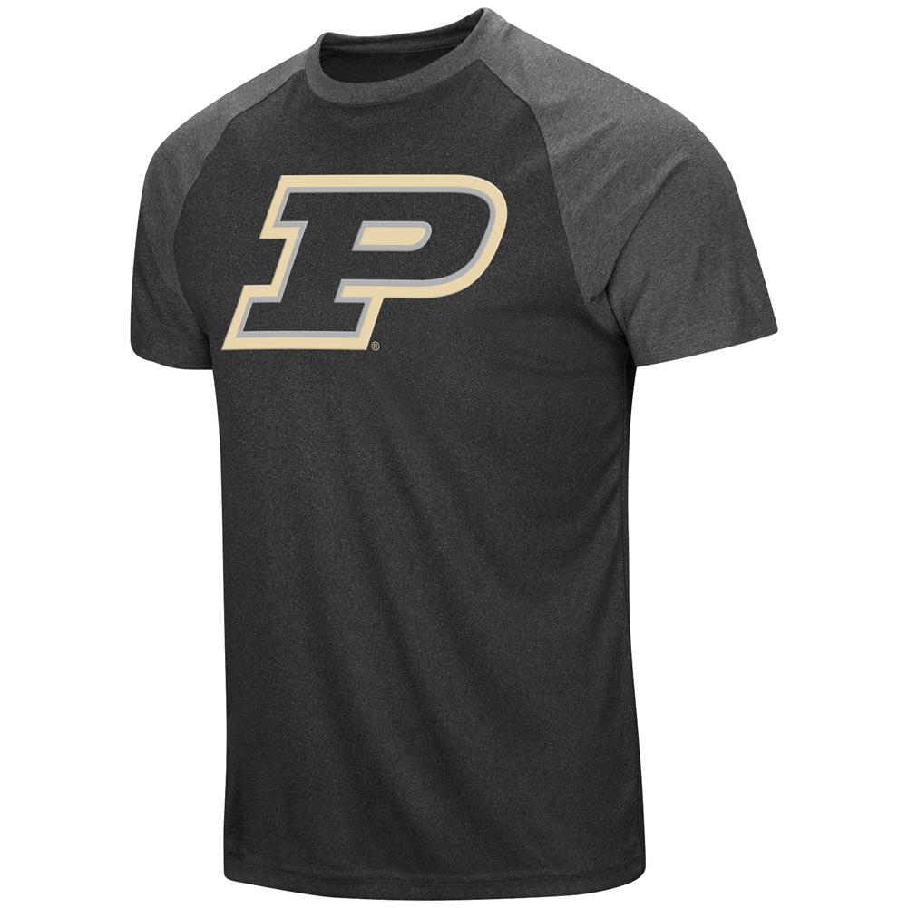 Men's Purdue University T-Shirt The Heat Raglan Tee Shirt