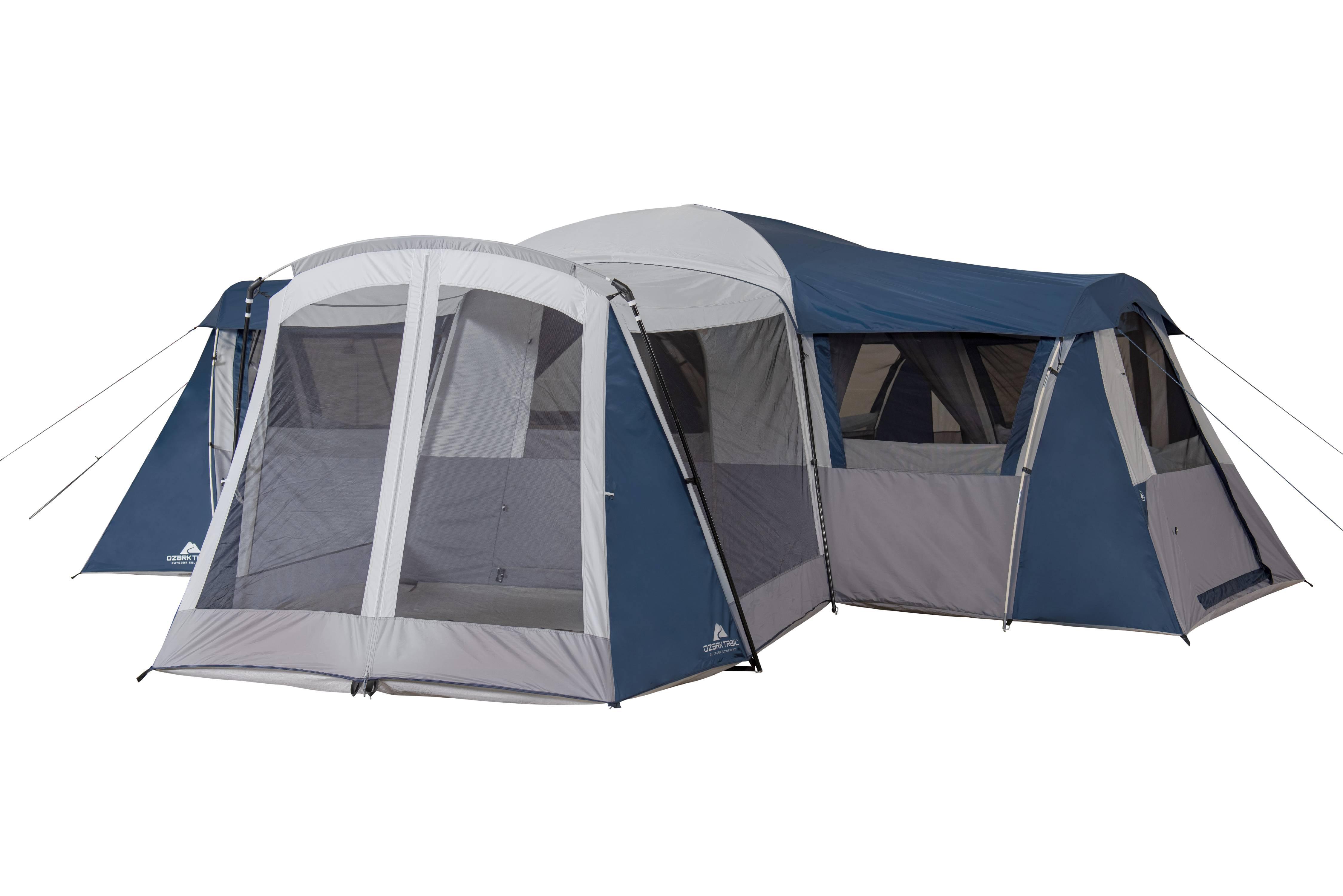 Ozark Trail Hazel Creek 20-Person Star Tent, with Screen ...